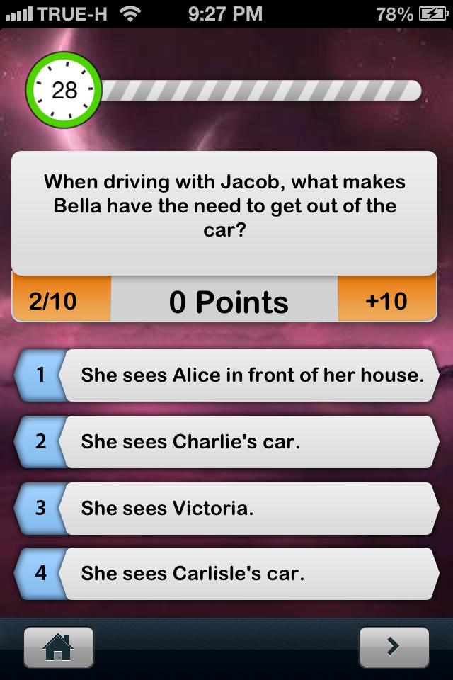 Screenshot iQuiz for Twilight Saga ( Trivia )